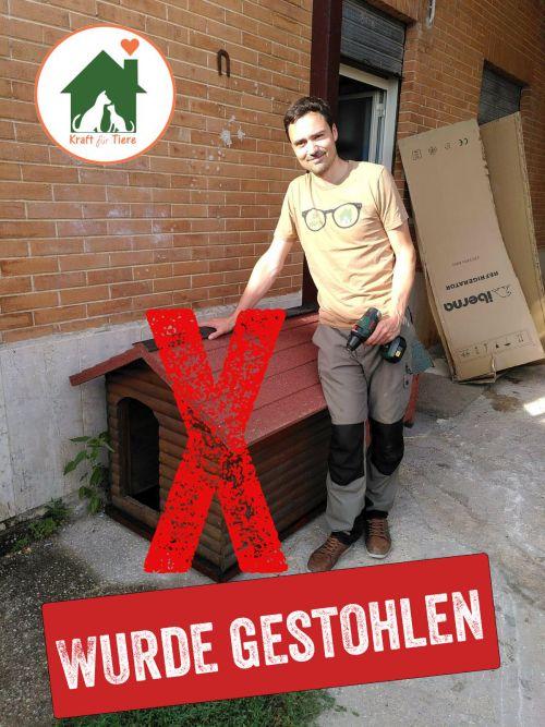 Hundehütte gestohlen - Kraft für Tiere e.V.